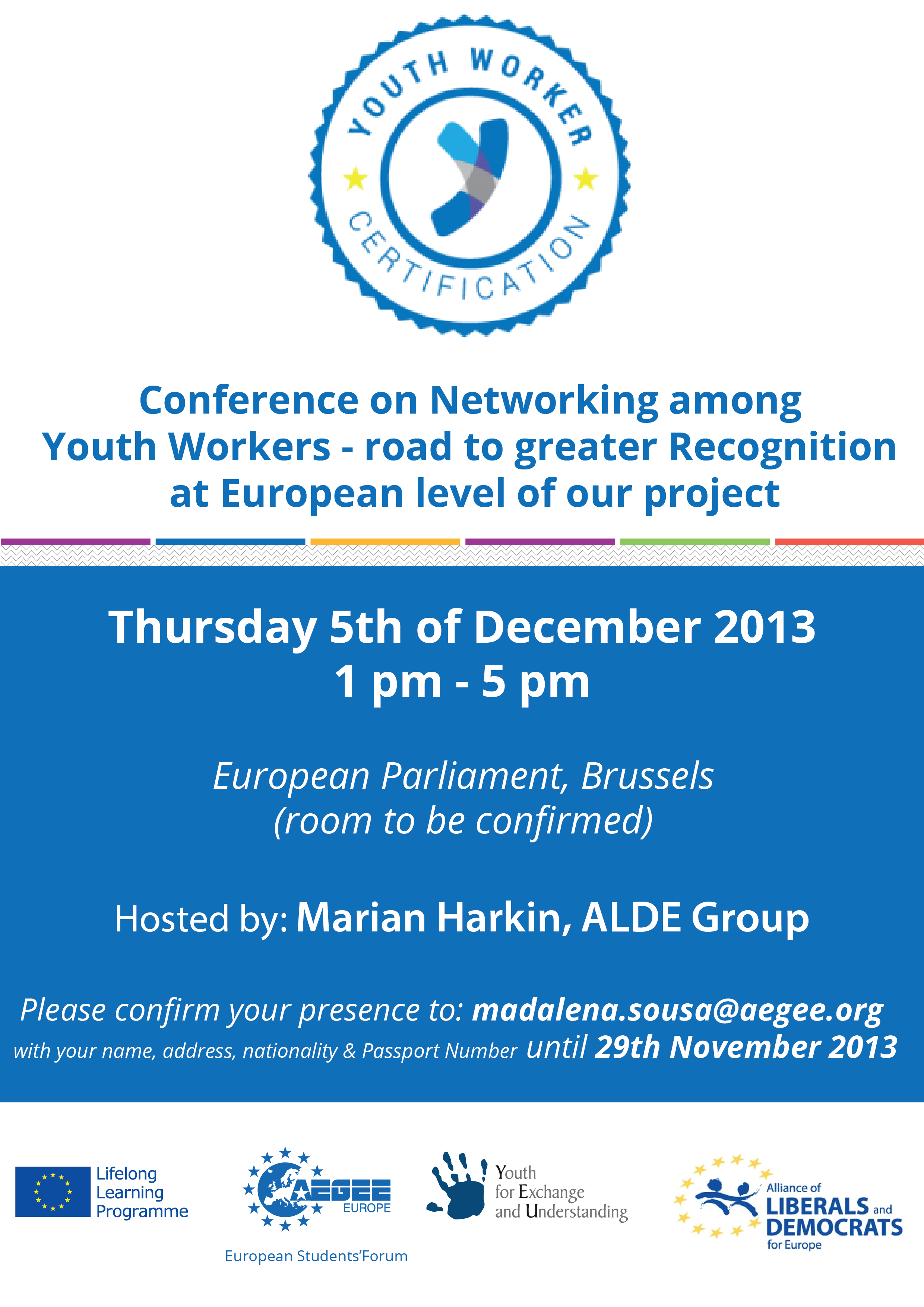 Event Invitation Conference On Networking Among Youth Workers