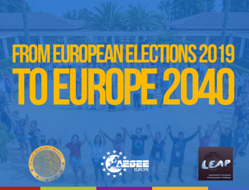 Joint declaration AEGEE-Europe, AAFB, LEAP2040 – From European Elections 2019 to Europe 2040: Making sure Europe's nascent democracy serves the interests of the next generations